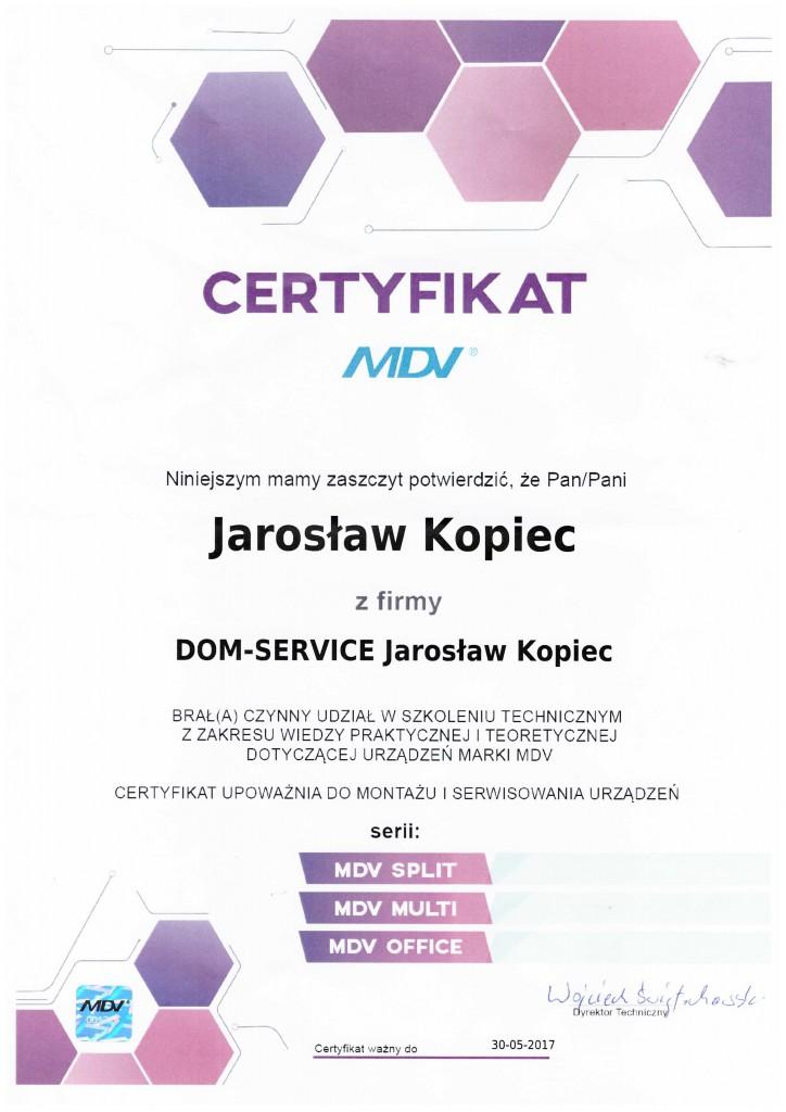 certyfikatMDV